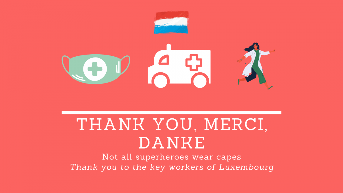 Thank you to the key workers of Luxembourg
